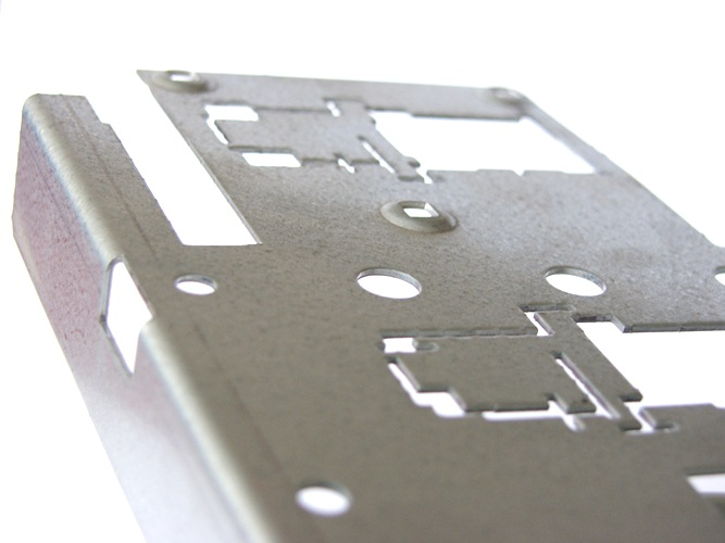 Punched sheet metal component parts